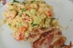 Tabouleh med grillad baconfisk