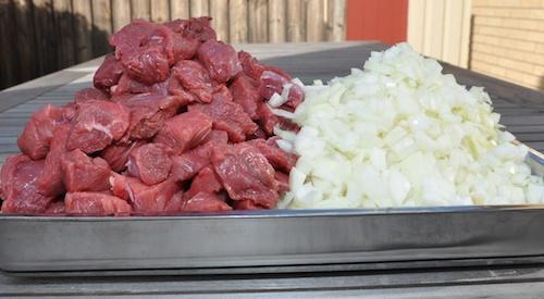 kött + lök