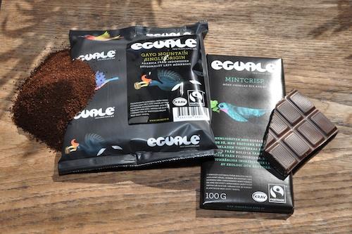 Eguale kaffe och choklad