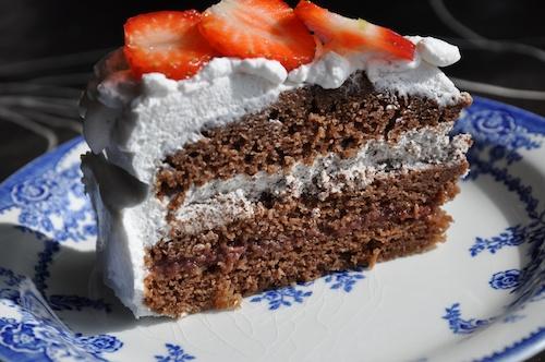 Mjölkfri chokladtårta