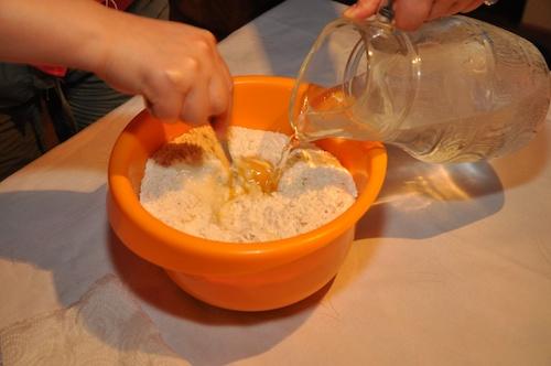 Dumplingsdeg med ägg